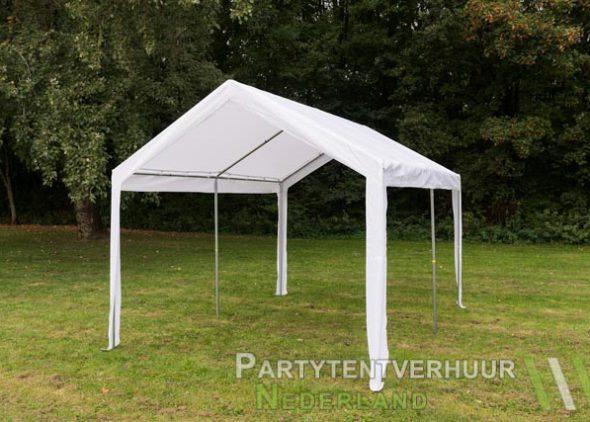 Partytent 3x4 meter schuin voorkant huren - Partytentverhuur Hoofddorp