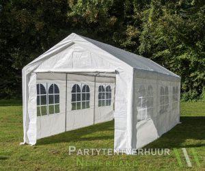 Partytent 3x6 meter zijkant huren - Partytentverhuur Hoofddorp