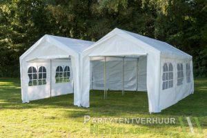 Partytent 6x6 meter voorkant huren - Partytentverhuur Hoofddorp