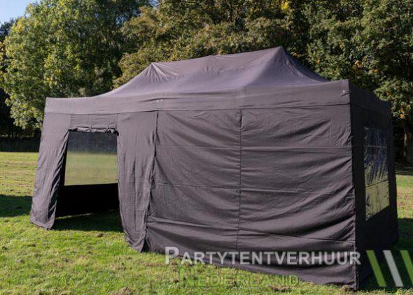 Easy up tent 3x6 meter zijkant met deur huren - Partytentverhuur Hoofddorp